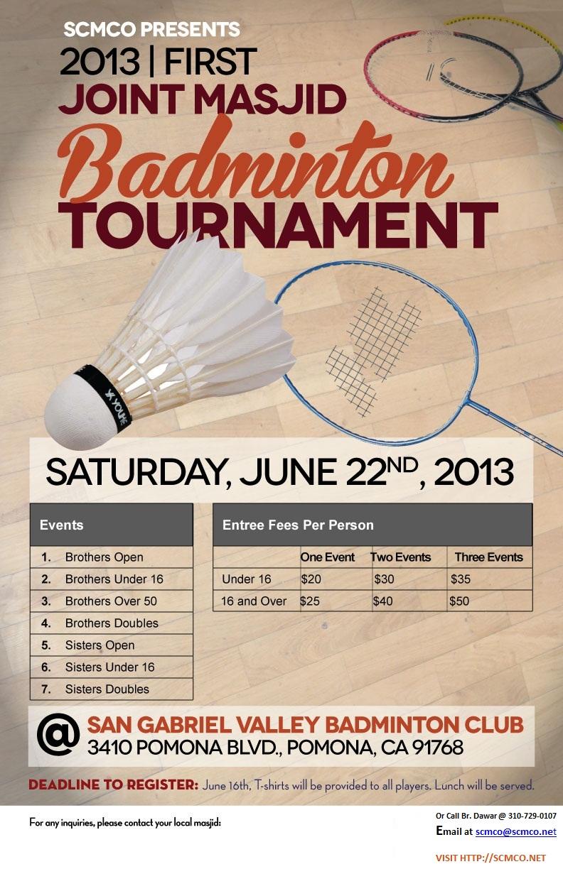 Badminton Flier